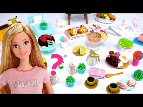 Barbie Dollhouse Miniature Food, Camping Accesories - Doll Kitchen Surprise Toy