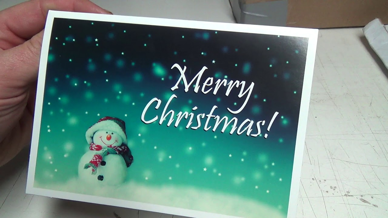 Christmas card and package opening day... Merry Christmas and Thank ...