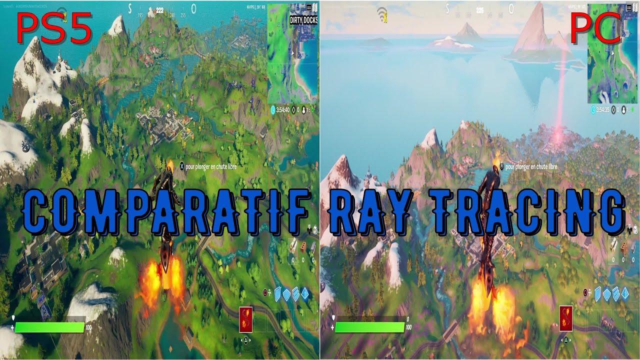 Download COMPARATIF FORTNITE PS5 VS PC RAY TRACING/GRAPHISME + TEMPS DE DEMARRAGE DU JEU