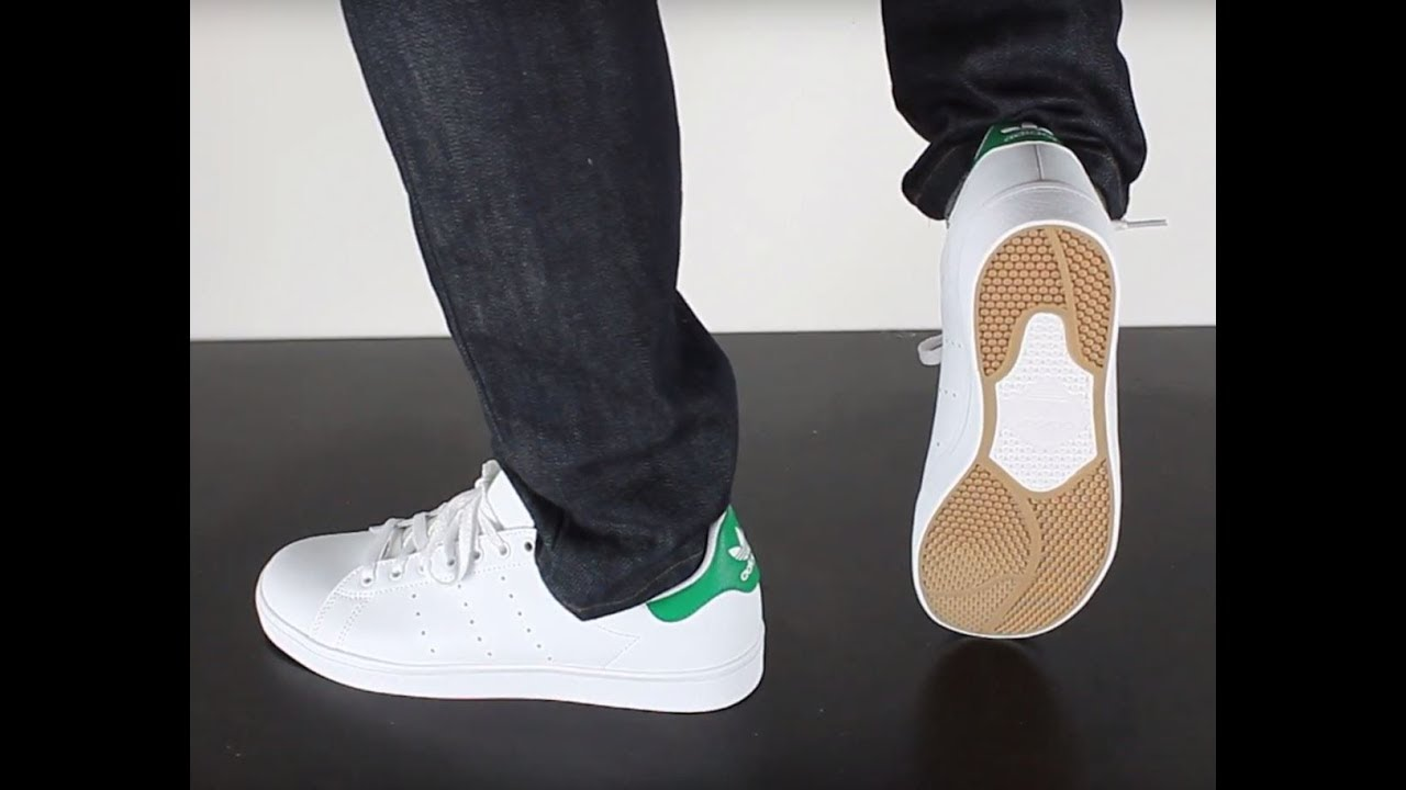 c83e82a31f9d ADIDAS SKATEBOARDING STAN SMITH VULC ft white ft white green - YouTube
