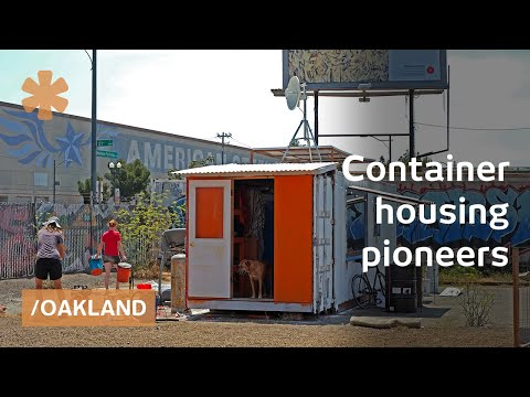 Containertopia: cargo container tiny home town on Oakland lo