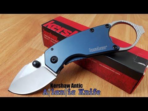 KERSHAW ANTIC BLUE BEAD BLAST STAINLESS FOLDING POCKET KNIFE