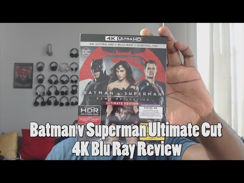 Batman v Superman Ultimate Edition 4K HDR Blu Ray Review