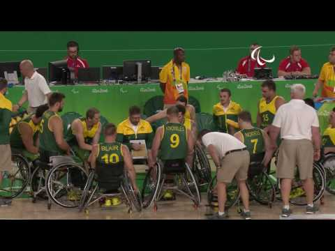 Wheelchair Basketball |Great Britain v Australia| Men's quarter-final 2| Rio 2016 Paralympic Games