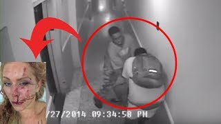 CAUGHT ON CCTV | 2 GUY BEATING A GIRL!