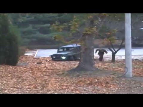 Images de la défection d'un soldat nord-coréen