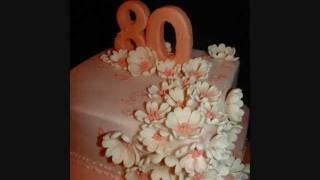 Peaches & Cream Fondant Cake