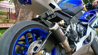 YZF-R6 With SC Project Exhaust (Full System)