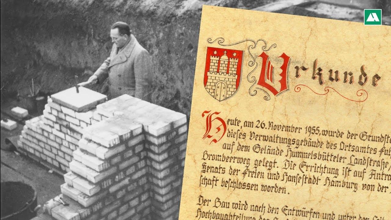 Bergung Einer Zeitkapsel Von 1955 In Hamburg Fuhlsbüttel - Youtube