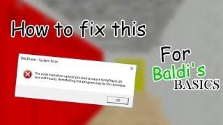 Як виправити помилки unityplayer.dll або відсутніх файлів DLL для основи Балди (у 80% робоча)
