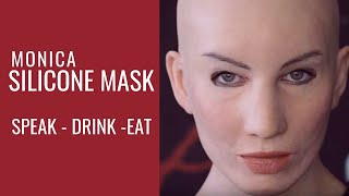 Female silicone Mask - Eat, drink and speak with Crea Fx silicone mask