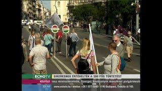 Sikeresnek értékelték a 300 fős tüntetést