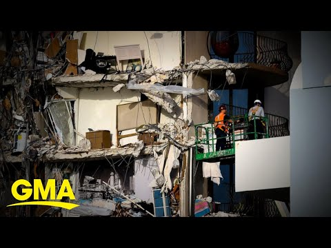 Weather threat pauses search and rescue efforts at site of Florida building collapse l GMA