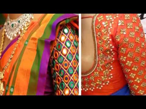 6d2aeae21d923c Latest Mirror Work Blouse Designs For Party Wear Sarees 2018   mirror work  blouse pattern   Latest