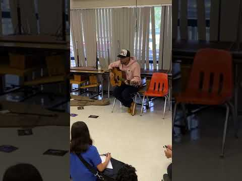 Pedro Capo Sings Calma for Indian Trace Elementary School