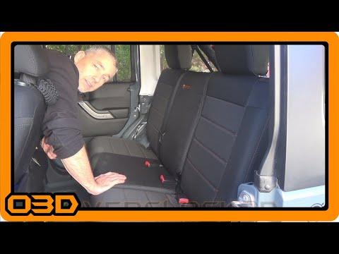 Bartact Rear Seat Covers Install 2015 Jeep Wrangler JK Unlimited (JKU)