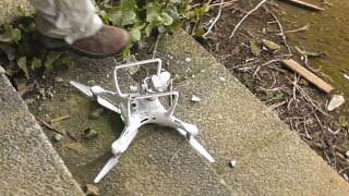 I deliberately had to crash(land) the drone to prevent worse from happening.