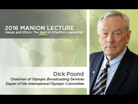Dick Pound on Values and Ethics