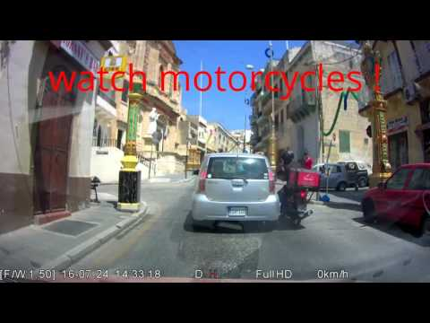 Motorcycle and car accident in St. Pawl il Bahar - Malta - Motorcycle driver was not hurt !