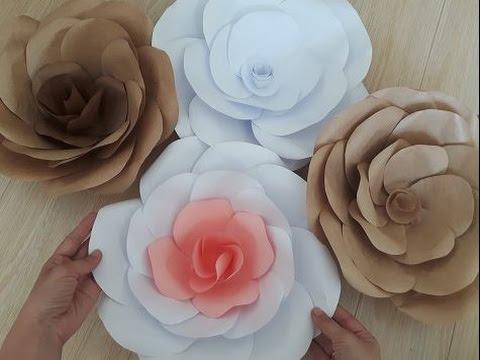 Объемные цветы из бумаги своими руками на стену