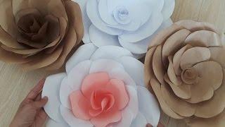 Цветы из бумаги. Большие цветы.DIY Giant Paper Flower(Большие красивые цветы из бумаги своими руками. Заходите,смотрите,учитесь. Если хотите зарабатывать на..., 2016-06-25T07:20:06.000Z)