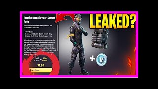 Breaking News | Fortnite Battle Royale has a new starter pack with an exclusive skin
