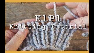 How to Knit K1P1 Rib Stitch for Beginners | Flat Knitting K1 P1 | Rib Stitch for Hats and Scarves