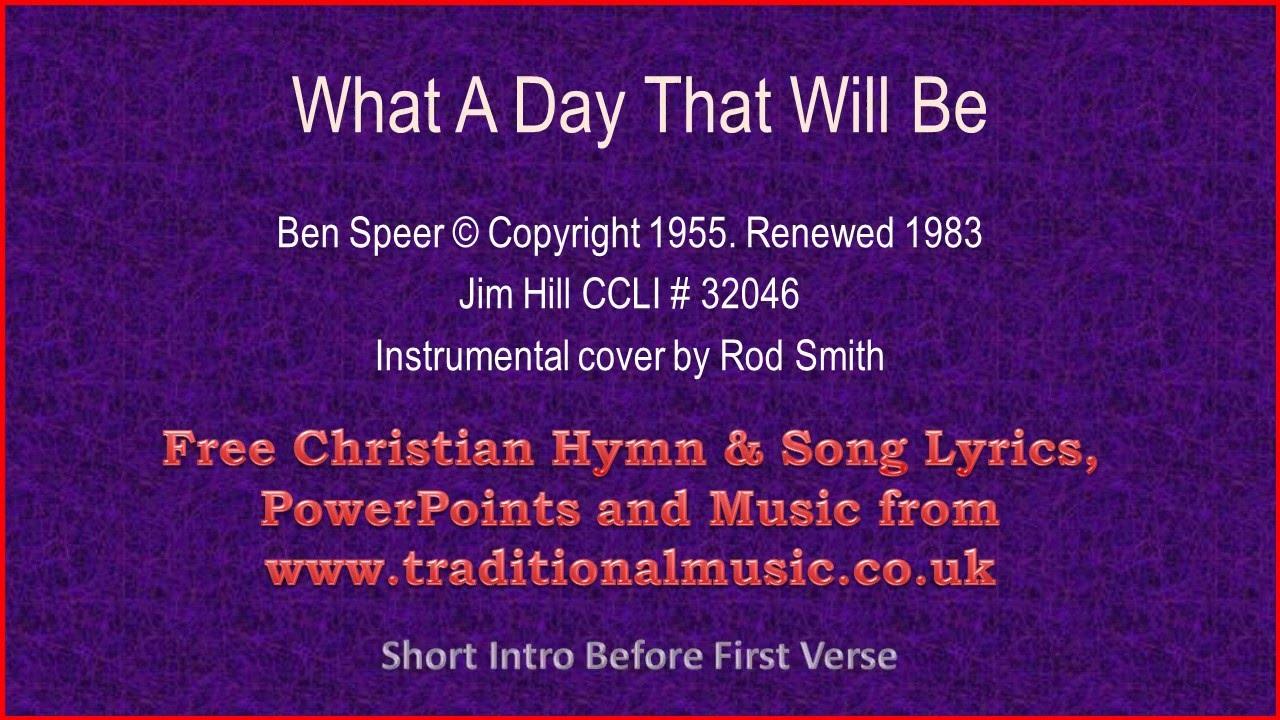 what a day that will be lyrics pdf