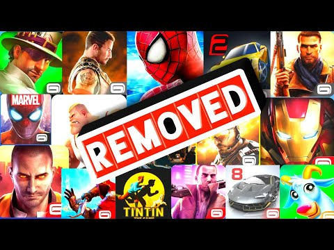 Top 10 Banned Gameloft Games From Play Store | High Graphic Gameloft Games For Android