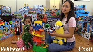 my first thomas friends rail rollers spiral station play set playtime w maya