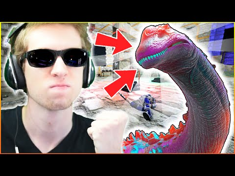 BLUE BANTA BOYS TITANOSAUR GIFT! - ARK: YouTuber Survival #56