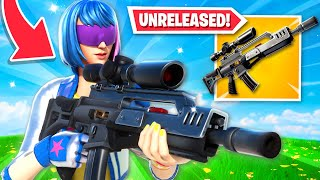 I used *UNRELEASED* weapons in Fortnite! (DON'T TELL EPIC)