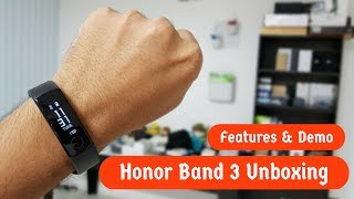 Honor Band 3 Activity Tracker Unboxing, Features & Demo