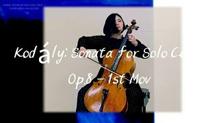 Kodály: Sonata For Solo Cello, Op.8 - 1st Mov Zenith-JuHye Cello 코다이 무반주 첼로 소나타 Op.8 1악장 황주혜 첼로