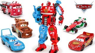 Disney Pixar Cars 3 McQueen Red Mater Dinoco Francesco Car Truck Vehicles Combin Robot Transformers