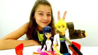 Видео для девочек - Свидание Маринетт и Эдриана - Распаковка игрушек