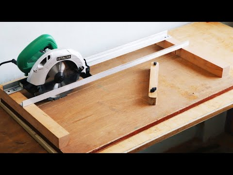 Homemade Circular Saw Crosscut Jig || DIY Circular Saw Miter Jig