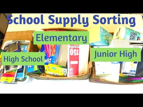 Sort With Me - 20 Minute School Supply Sorting For Multiple Kids
