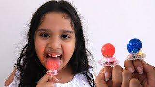 Color Ring candy مصاصة خواتم Shfa Mukbang