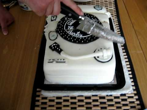 Killing the DJ birthday cake YouTube