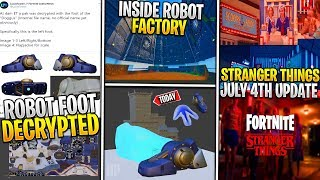 *NEW* Fortnite Update! Leaked Giant Robot Foot Decrypted *Fight Cattus*, July 4th Stranger Things!
