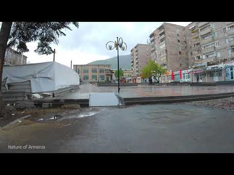 Ванадзор - опять дождь, обзор города