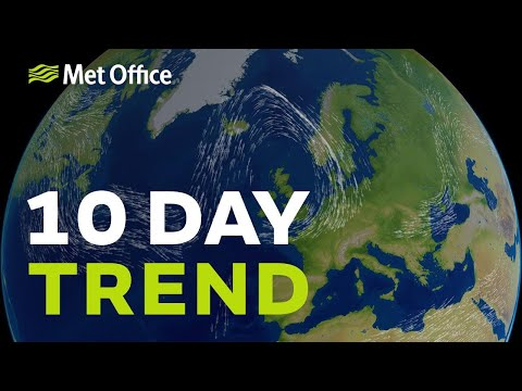 10 Day trend - Becoming drier but will it also turn colder?