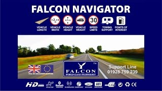 The Falcon Navigator Motorhome and Caravan Sat Nav