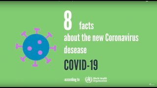8 Facts about the new coronavirus disease (COVID-19)