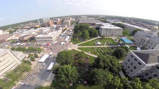 Aerial view of 2015 Iowa City Jazz Festival: #ICJazzFest