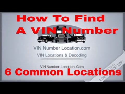 Skid Steer Loaders Serial VIN Identification Number Location