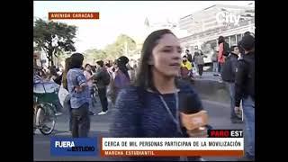Disturbios en Bogotá durante la marcha estudiantil | Citytv