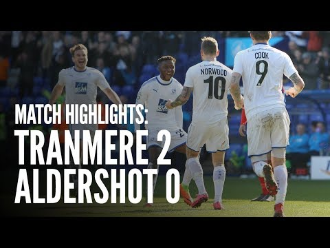 Match Highlights | Tranmere Rovers 2 - 0 Aldershot Town
