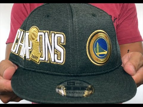 d79555af7f7 Warriors  2017 CHAMPIONS  Black 9FIFTY Snapback Hat by New Era - YouTube